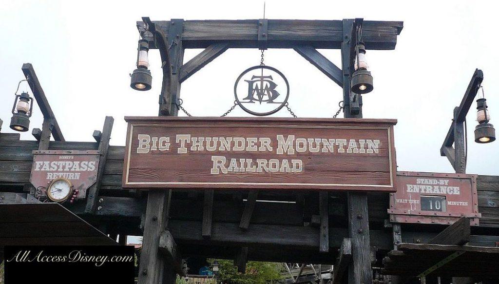 Big Thunder Mountain sign/entrance