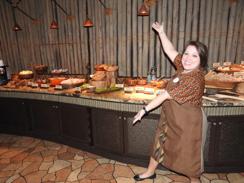Food spread. Concierge level. Disney vacation club Jambo