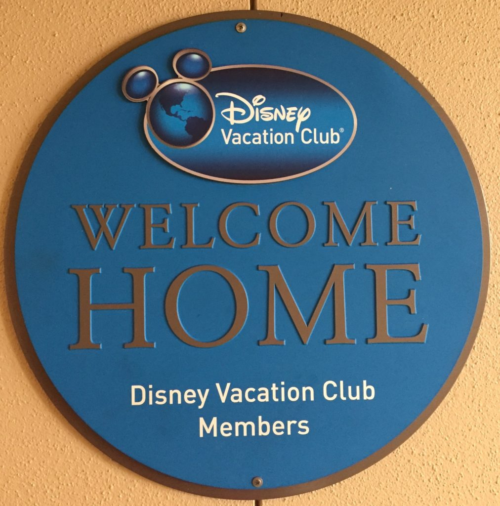 Disney Vacation Club sign