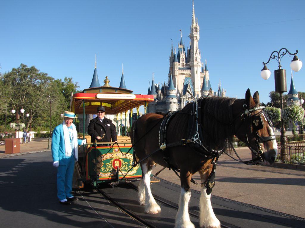 Horse drawn carriage on Main Street, U.S.A.
