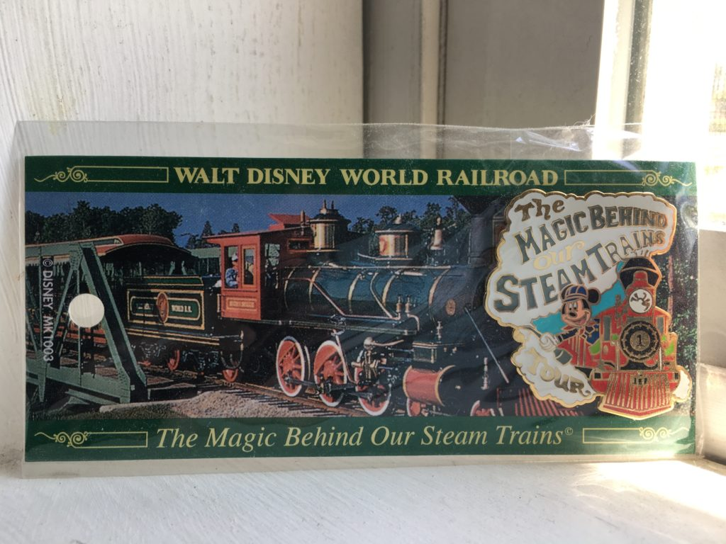 The Magic Behind Our Steam Trains pin gift from tour