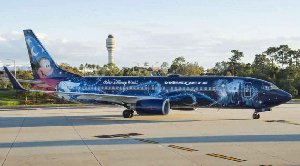 Walt Disney World plane