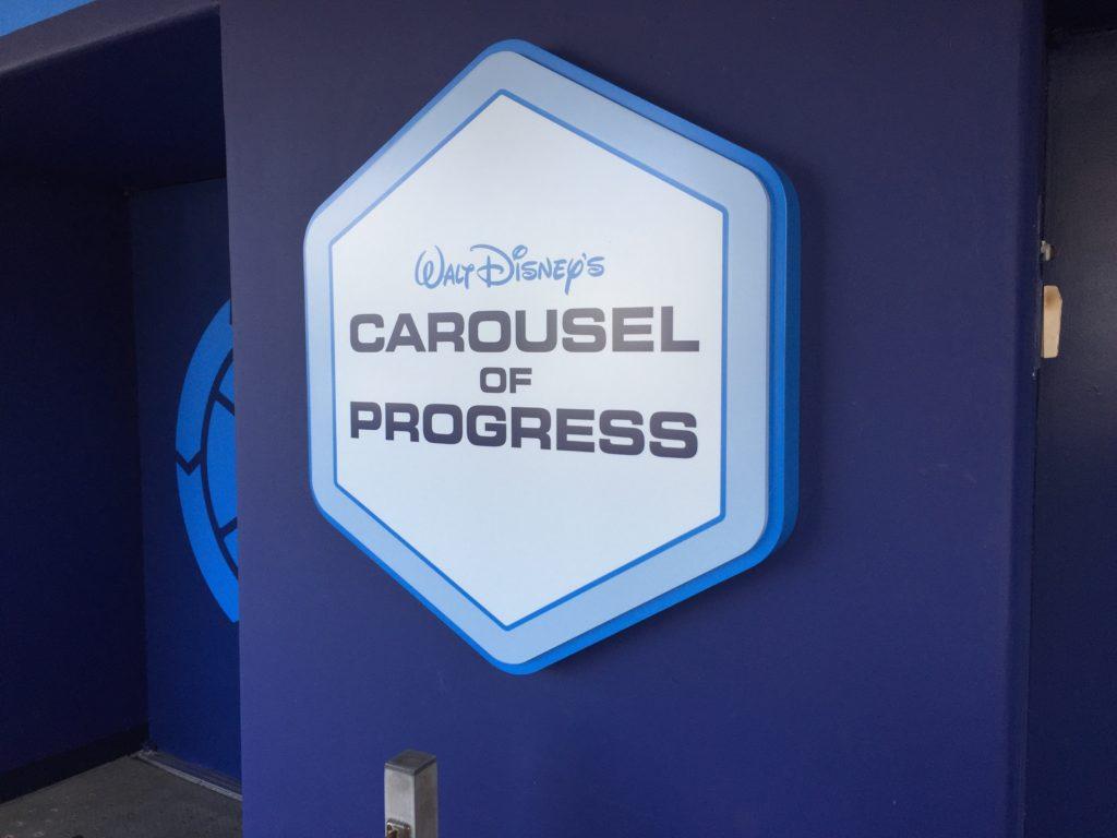 Carousel of Progress sign at Walt Disney World
