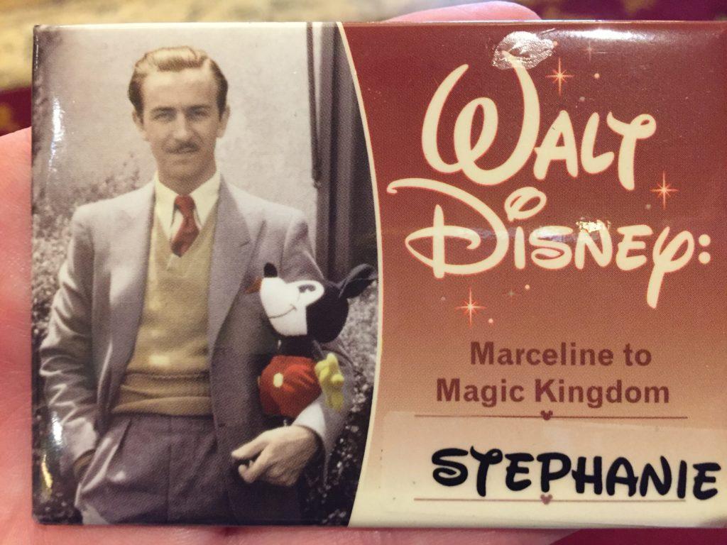 Marceline to Magic Kingdom Tour name tags.