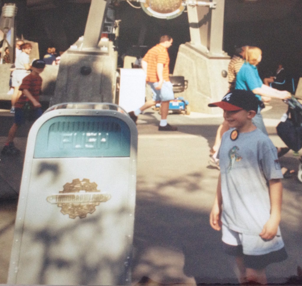 PUSH the trash can in Tomorrowland