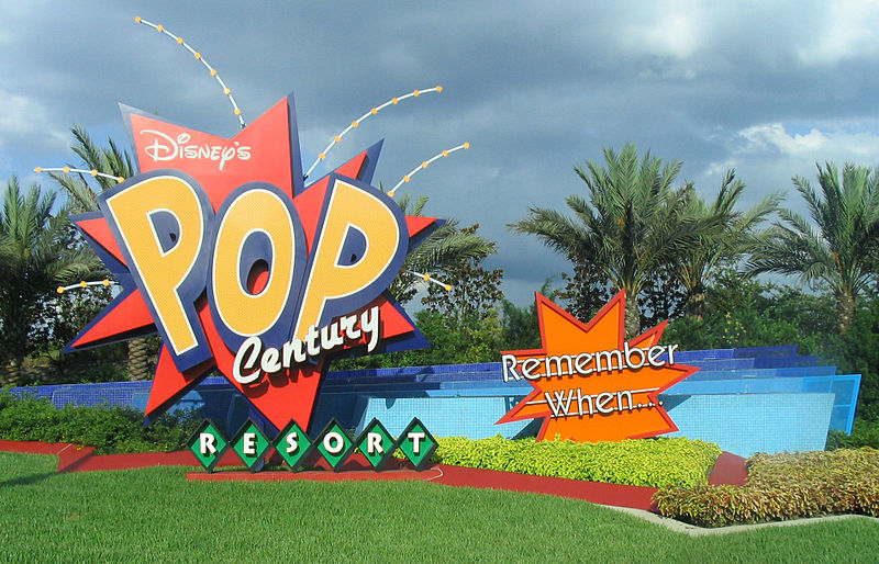 Disney's Pop Century sign