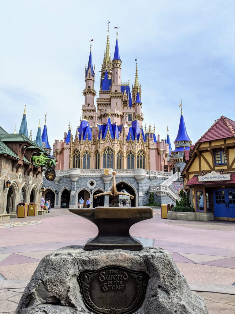 Sword In The Stone with Cinderella castle