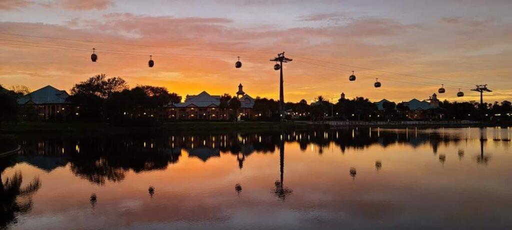 Walt Disney World resort with skyliner