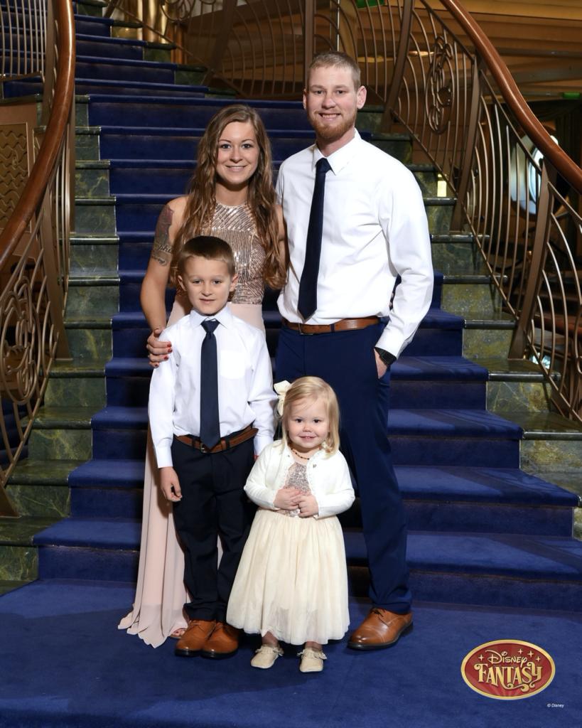 Family on Disney cruise
